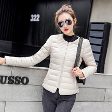 Autumn Winter Jacket Women Parka Short Ultra Light Coat Korean Slim Womens Jackets and Coats Parkas Mujer 2020 KJ2470(China)