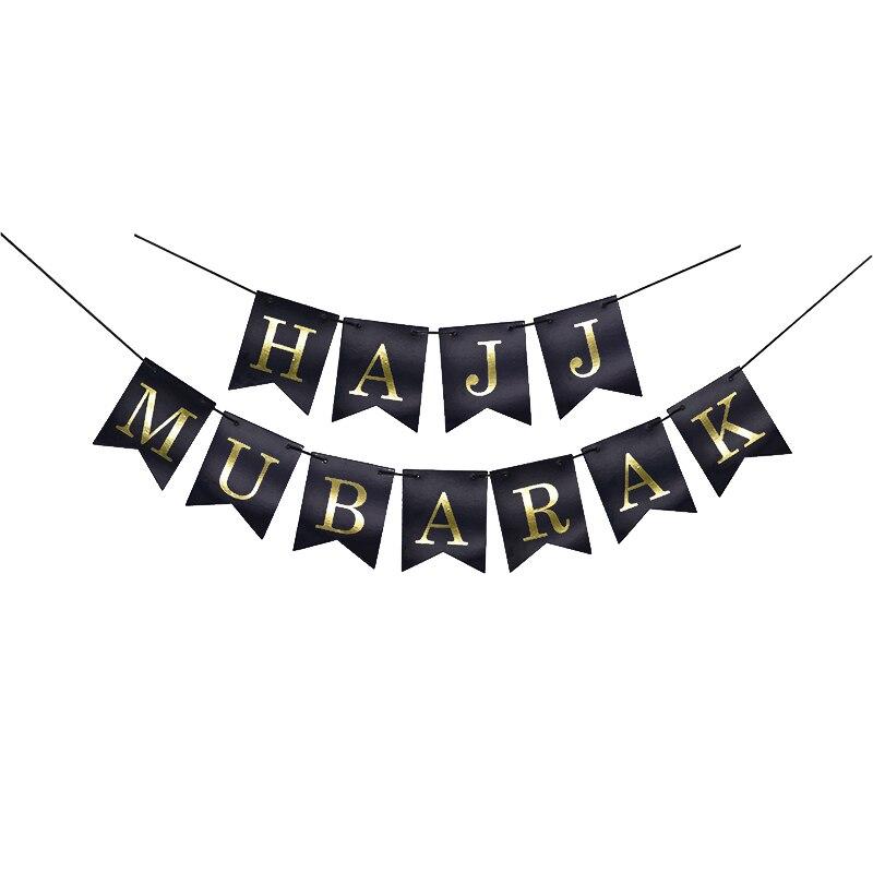 Ramadan Decor Eid Party balloons Banner Gold Glitter EID MUBARAK Garlands Gift Box Muslim Islam Hajj Ramadan Party Decoration