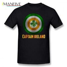 Capitan America T Shirt Captain Ireland T-Shirt Oversize Man Tee Printed Cute Streetwear Short-Sleeve Cotton Tshirt