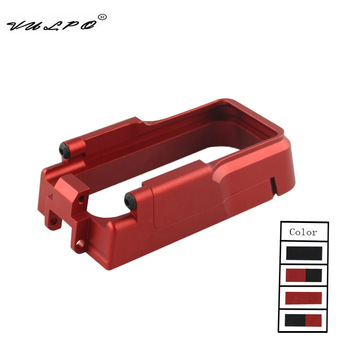 VULPO Hot Sale Tactical Magazine Well CNC Aluminum Made Magwell for AEG M4&GBB M4&AR-15 Hunting Accessories vulpo 3pcs lot high strength plastic double o ring air seal m4 nozzle cross style for airsoft aeg m4 hunting accessories