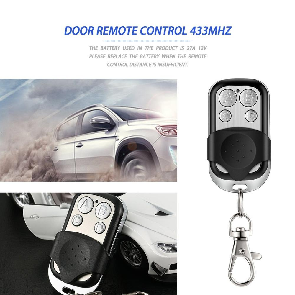 Remote Control For Gates Copy 4 Channel Cloning Duplicator Key Fob A Distance Learning Electric Garage Door Controller 433 MHz