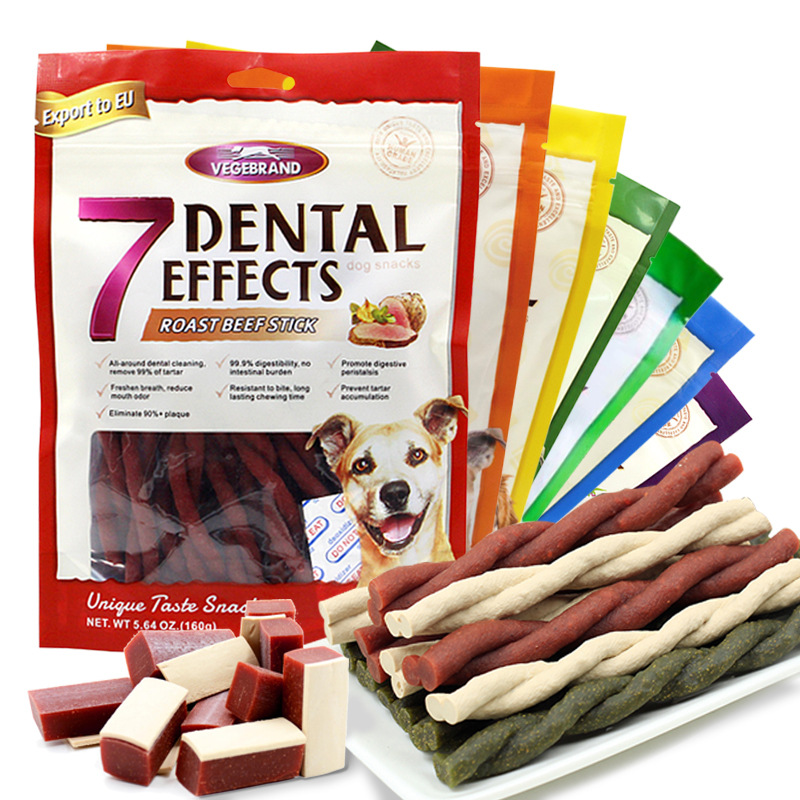 7 Flavors Dogs Feeder Snack Health Food for Small Large Dogs Chew Cleaning Teeth Dogs Snacks Fresh Beef Delicious Beef Feeder image