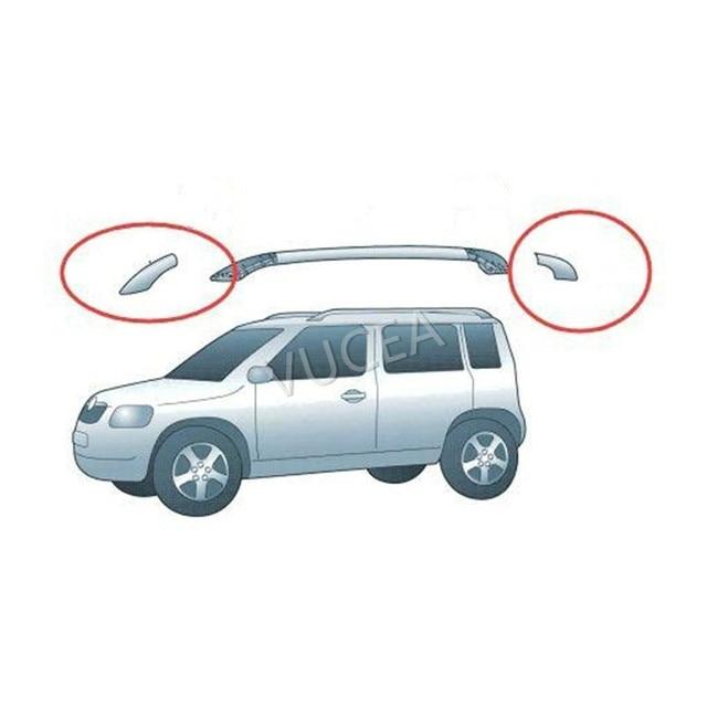 1 adet çatı bagaj rafı bekçi siyah renk plastik kapak çin Skoda YETI SUV oto araba motor parçaları
