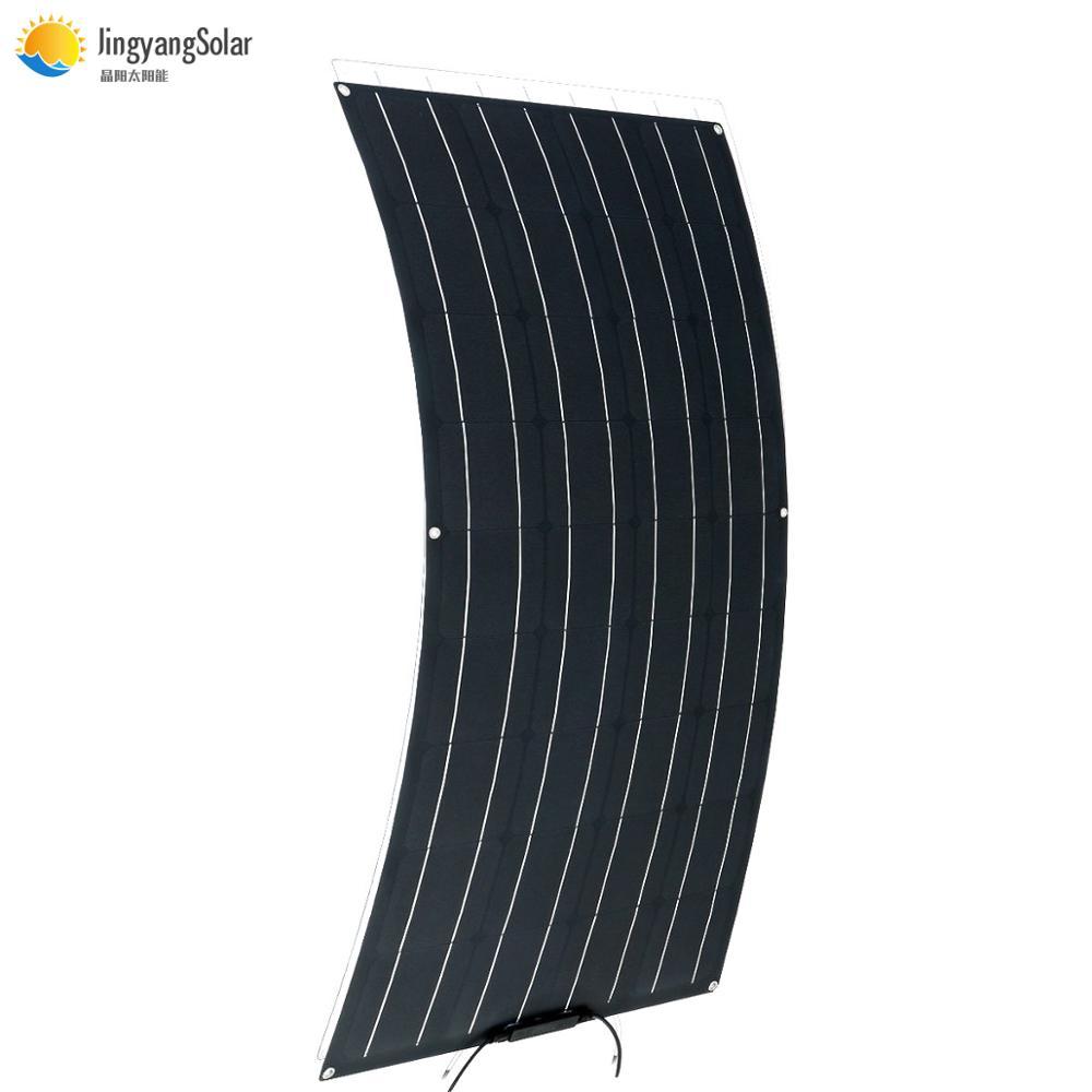 Flexible Foldable Solar Panel 100w High Efficience Travel & Phone & Boat Portable 12V 24V 200w Solar Panel Kit System Charge