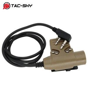 Image 3 - TAC SKY PTT U94 PTT tactical PTT   military headset walkie talkie ptt, suitable for peltor comtac/sordin  tactical headset pttDE