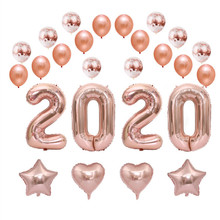 Happy New Year 2020 Foil Balloon Set 2019 Merry Christmas Eve Party Decorations For Home Ornaments passion eve set 1