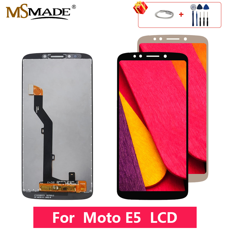 For Motorola Moto E5 <font><b>XT1944</b></font>-<font><b>4</b></font> <font><b>XT1944</b></font>-2 LCD Touch Screen Digitizer Display Replacement Assembly Parts Free Shipping 5.7