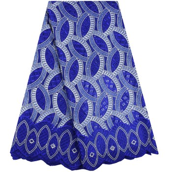 Latest lace fabric French Nigerian cotton Lace Fabrics High Quality voile African embroidery Lace Fabric for dress Garment