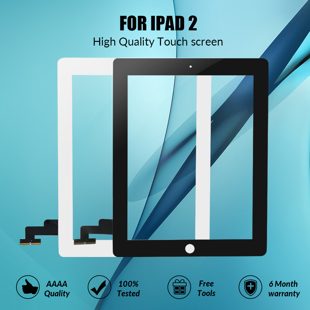 Touch-Screen Glass-Panel Sensor Replacement A1396 iPad Digitizer for 2-a1395/A1396/A1397 title=