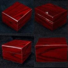 4 sztuk drewniany zegarek pudełko wystawowe przypadku kolekcja, w stylu Vintage, do przechowywania biżuterii organizator dla kobiet mężczyzn czerwony