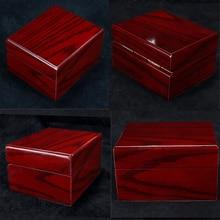 Collection de boîtier de montre en bois de 4 pièces, organisateur de stockage de bijoux de Style Vintage pour les femmes hommes rouge