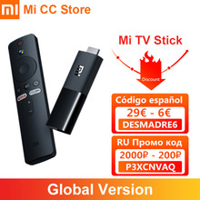 W magazynie wersja globalna Xiaomi TV Stick HDR Android TV 9.0 Wifi Google asystent TV Dongle 1GB 8GB Bluetooth 4.2 Mi TV Stick