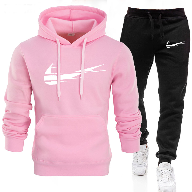 2021 Sports Tracksuit Ladies 2 Ladies Hooded and Pants Suit Sportswear Hooded Guard Clothing Outfits