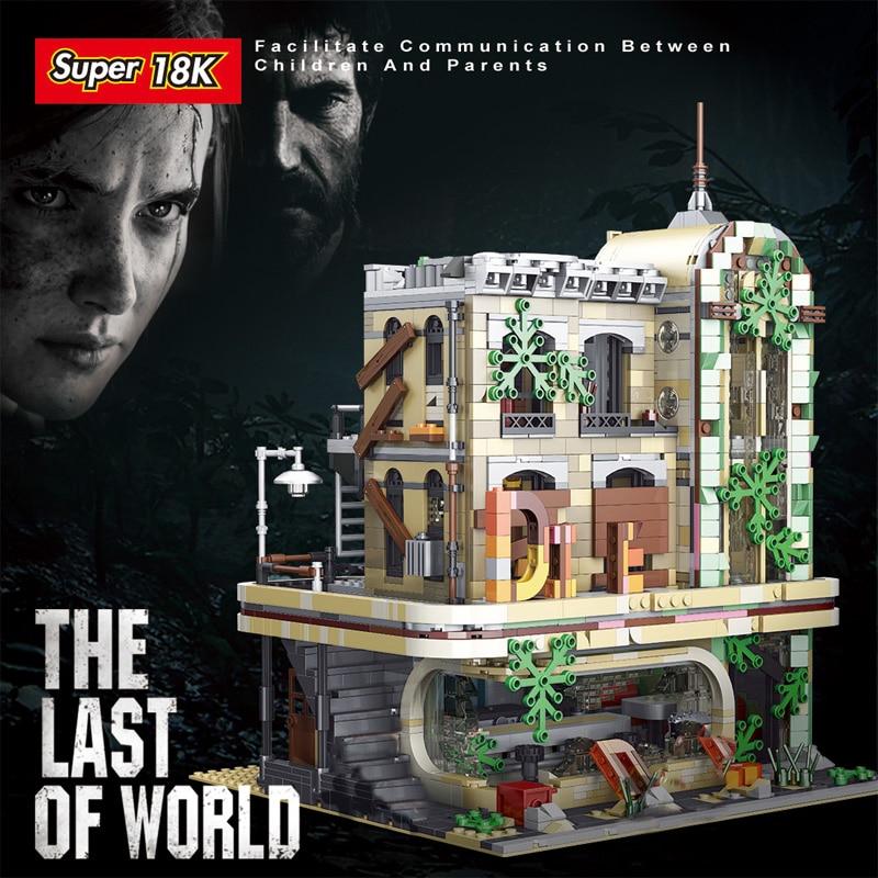 New MOC-40173 Downtown Diner Apocalypse Version Street View Construction Building Blocks Brick Model 2392pcs Boy Toy Gift Set