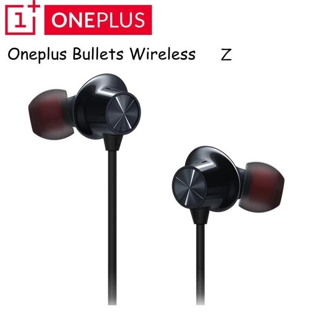 Original oneplus bullets 무선 2 이어폰 aptx 하이브리드 마그네틱 컨트롤 google assistant oneplus 7 pro 용 고속 충전