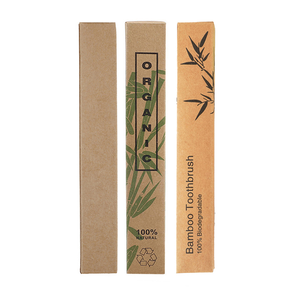 Bamboo Charcoal Toothbrush Kraft Box Environmental Packing Box Only Toothbrushes Case