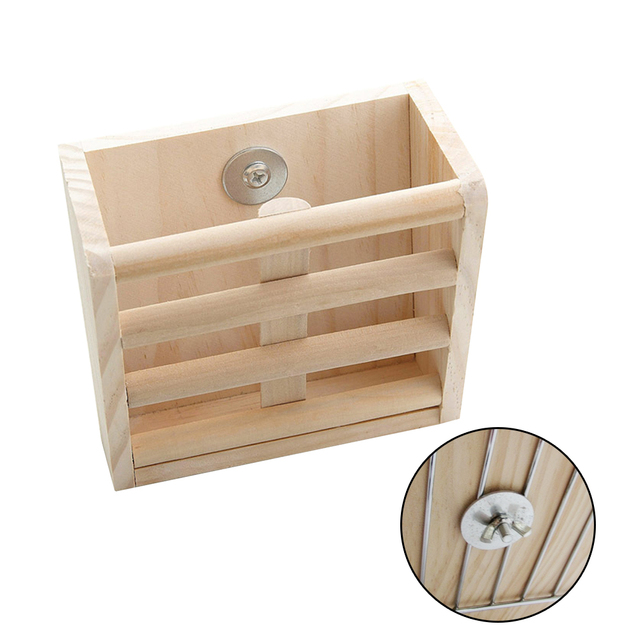 Pet Chinchilla Professional Manger Fixable Home Guinea Pig Hay Feeder Accessories Rack Holder Hamster Rabbit Grass Wood 3