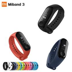 Оригинальный Xiaomi Mi band 3 монитор сердечного ритма Bluetooth 4,2 Xaomi умный спортивный браслет OLED Miband 3 Smartband