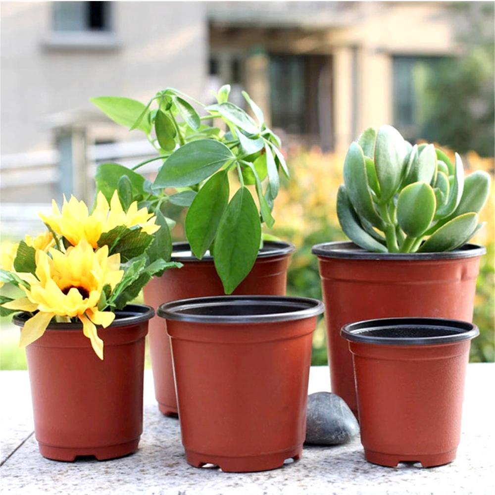 10pcs Plant Flower Pots Plastic