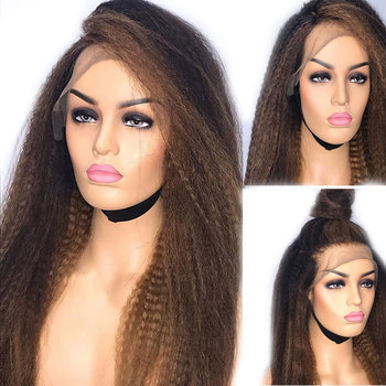 Eversilky Honey Blonde Ombre 13x6 360 Lace Front Human Hair Wigs PrePlucked  Remy Brazilian Afro Kinky Straight  Full Lace Wigs