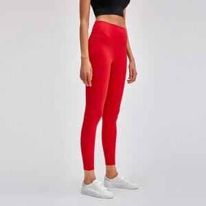 Image 2 - Shinbene classic 2.0 amanteigado macio nu sinta se atlético leggings de fitness feminino elástico agachamento à prova ginásio esporte collants yoga calças