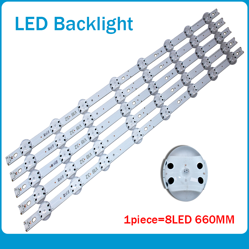 New 10 PCS/lot 8LED(3V) 660mm LED backlight strip for LG <font><b>32inch</b></font> TV 6916L-3148C V18 32 V18 DRT 3148 image