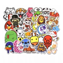 50pcs Cartoon Animal Stickers Kids Toy Cute Sticker For DIY Luggage Laptop Skateboard Motorcycle Bedroom Scrapbooking