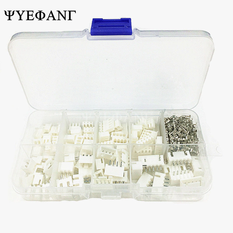 10 Pin Bare  XH 2.54mm Terminal Kit Adaptor  Housing PCB Header Wire Connectors