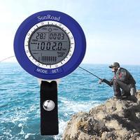 SR204 Angeln Barometer Thermometer Tracks 6 Standorten Auf Einmal Luftdruck Temperatur LCD Digital angeln werkzeug
