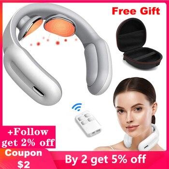 Masajeador eléctrico inteligente para cuello, herramienta de relajación para el hogar