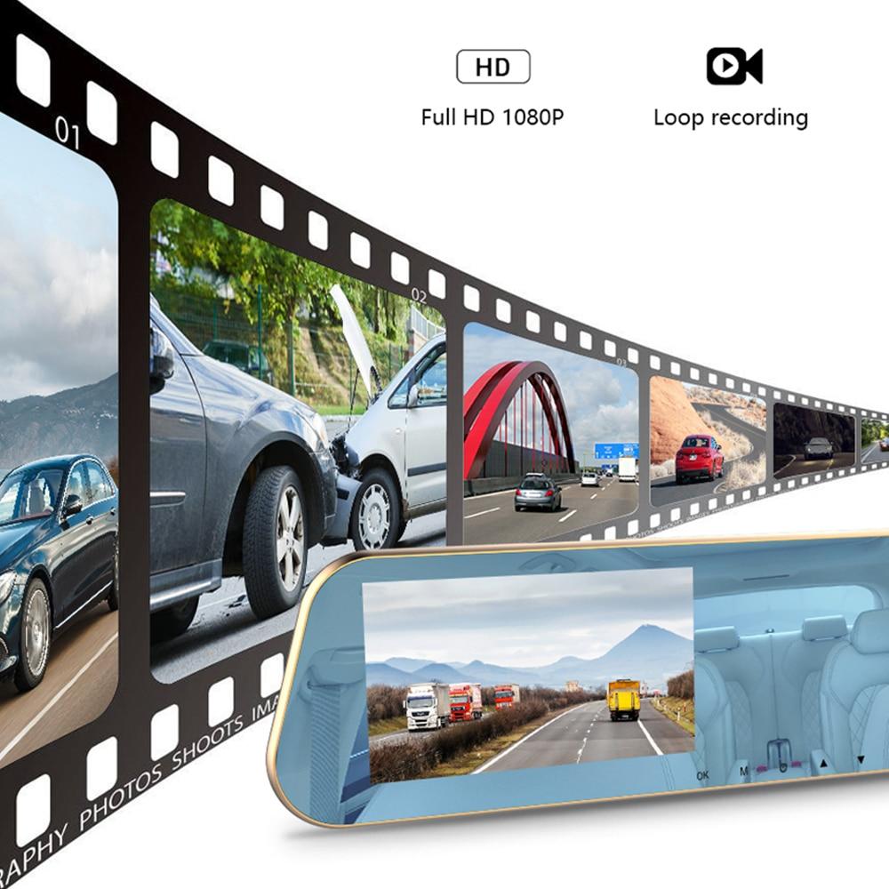 Volle HD 1080P Auto Dvr Kamera Auto 4,3 Inch Rückspiegel Digital Video Recorder Dual Objektiv Registratory Camcorder