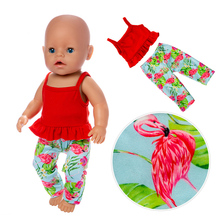 2019 New Fashion casual wear Fit For 43cm baby Doll Reborn Babies Clothes And 17inch Accessories