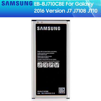 SAMSUNG Original Battery EB-BJ710CBC  EB-BJ710CBE For Samsung GALAXY J7 2016 J7 2016 SM-J7109 J7108 J710F J710K J710H 3300mAh for samsung galaxy j7 2016 j710 sm j710f j710fn j710m j710h j710a housing battery cover back cover case rear door chassis shell