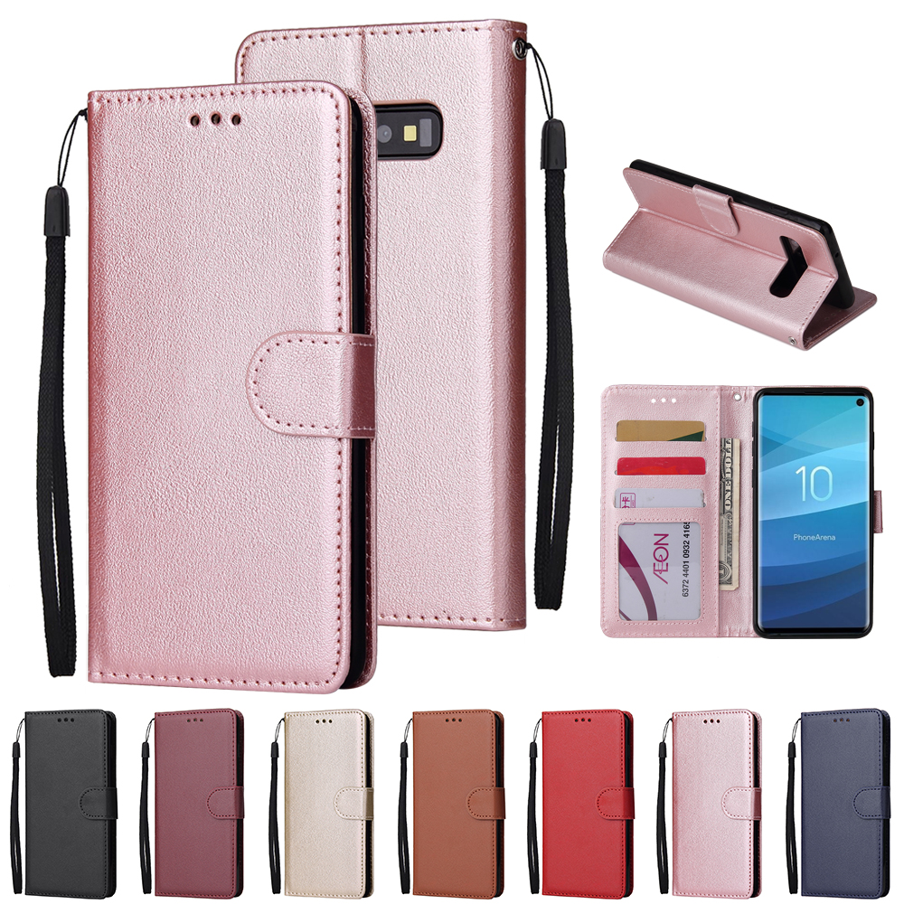Leather <font><b>Case</b></font> For <font><b>Samsung</b></font> A70 A50 A40 <font><b>A7</b></font> A5 A8 A6 A9 <font><b>2018</b></font> J3 J5 J7 <font><b>Flip</b></font> Wallet <font><b>Case</b></font> For <font><b>Galaxy</b></font> S10 S9 S8 S8 Plus S7 S6 edge Coque image