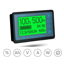 New 8-120V 50A 100A 350A 500A Battery Capacity Tester Coulometer Coulomb Counter Volt Amp Meter