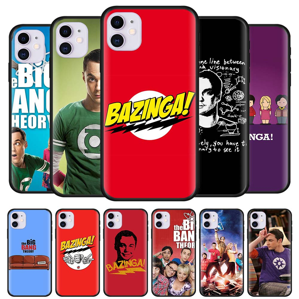 The <font><b>Big</b></font> <font><b>Bang</b></font> Theory Black Silicone <font><b>phone</b></font> <font><b>Cases</b></font> for Apple iPhone 11 Pro 6 6S 7 8 Plus X XR XS MAX 5S SE Soft TPU <font><b>case</b></font> cover image