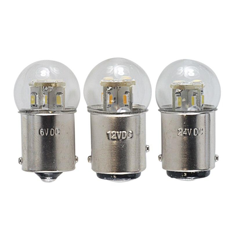 Led Light 1156 BA15S 1157 BAY15D 1142 BA15D 6v 12v 24v 24v 36v 48v 1.5W S25 Canbus Auto Turn Signal Lamp Tail Bulb Brake Lights