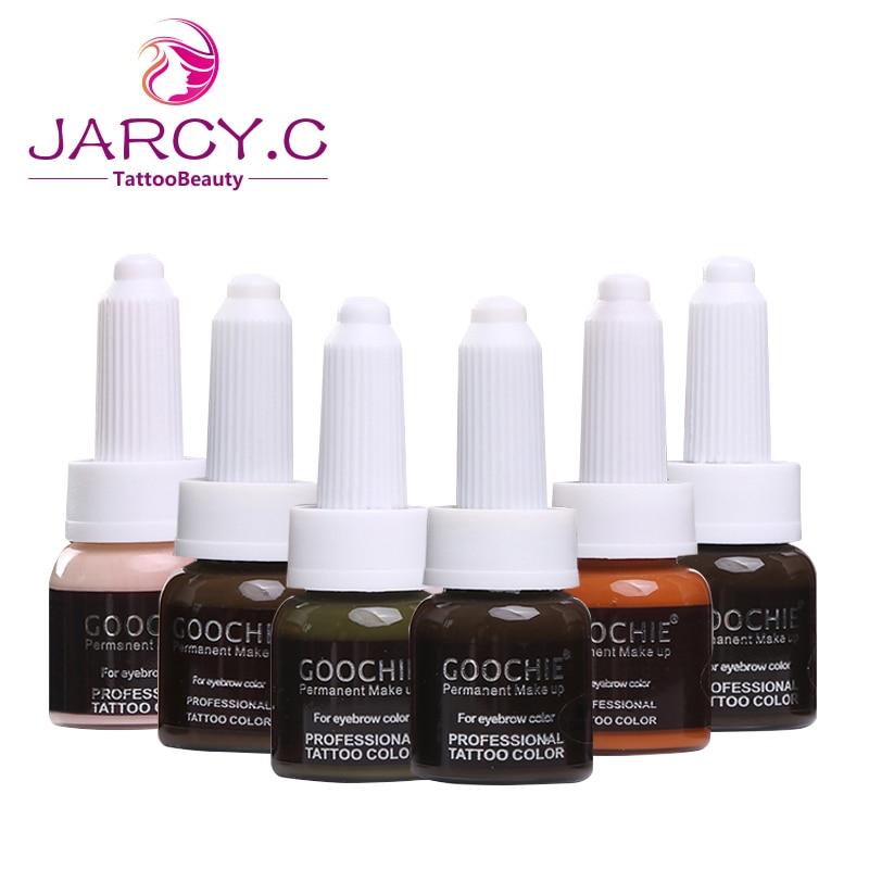 Pigment Permanent de sourcil de crème de maquillage de Goochie, couleur professionnelle de tatouage pour le sourcil 10 g/pc