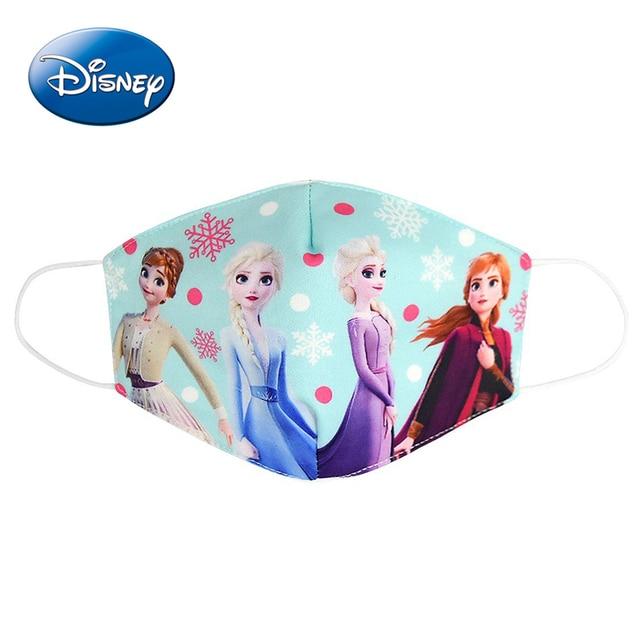 Frozen Elsa Kids Mask Cotton Daily Protection Pm2.5 Anti-haze Dust-proof Washable Cartoon Boys Girls Disney Children Masks 3