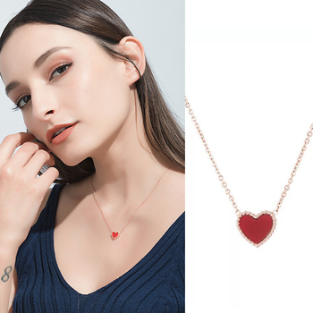 2020 Red Heart Pendant Necklace