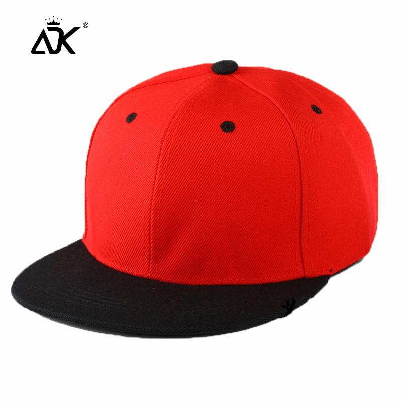 Flat Hat Baseball Cap Women Cotton Solid Color Hats Fashion Men Hip Hop Caps Adjustable Summer Spring Snapback Hats Unisex Cap