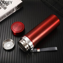 Vacuum Insulated Water Bottle Stainless Steel 500ml Travel Thermos Bottle Garrafa Termica Vacuum Flask Coffee Mugs Tea Cups 2020(China)
