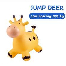 Toy Pima Jumping Horse Riding Birthday-Gift Kindergarten Giraffe Pvc Creative Thicken