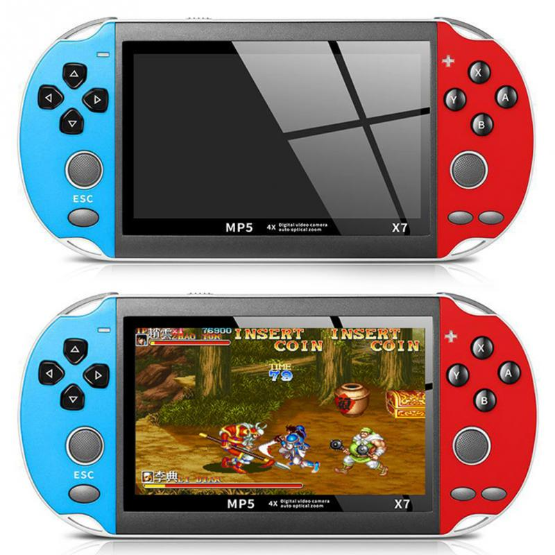 X7 Video Rechargeable Dual Rocker Plastic 4.3 Inch USB Game Console TV Output Multifunctional Gifts 8GB Handheld Camera