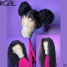 Parrucche di pizzo di colore naturale riccio KGBL per le donne parrucche brasiliane pre-pizzicate anteriori parrucche di capelli umani Non Remy razione media 250%
