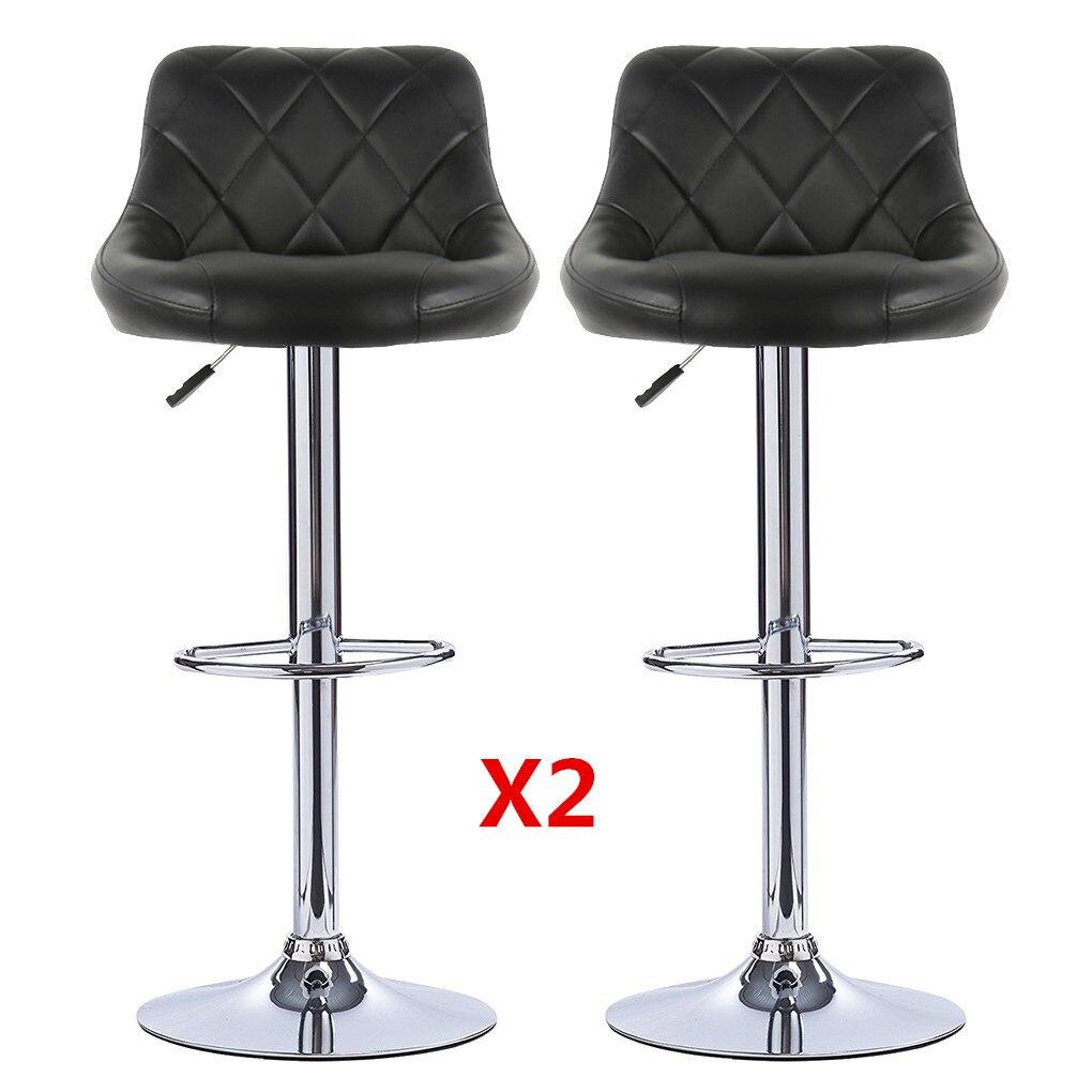 Барные стулья 2 шт Вращающиеся барные стулья регулируемая высота барные стулья искусственная кожа вращающиеся 360 стул dorel Бесплатная