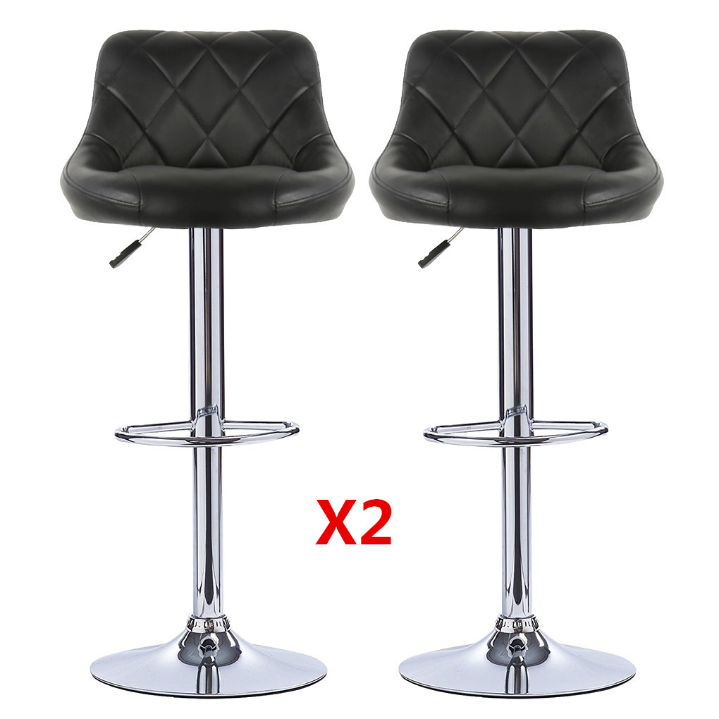 Bar Stools 2pcs Swivel Bar Chairs Lift Adjustable Height Bar Stools Synthetic Leather Rotated 360 Chair Dorel Freeshipping HWC