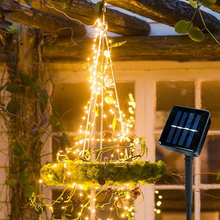 цена на 100/200 LED Outdoor Solar Lamp LEDs String Lights Fairy Holiday Christmas Party Garland Solar Lights Garden Waterproof