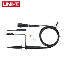 UNI-T UT-P04 100MHz Passive Probe Oscilloscope Cable Applies To UTD2000 series Oscilloscope Part 4 8days arrival gwinstek oscilloscope probe gtp 100a 4 100mhz 10 1 1 1 switching passive probe bnc p m gds gos grs series