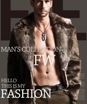 Men's Double-sided Wearable Fur Coat Long Design Eco-friendly Fur Overcoat Men Thick Faux Leather Mink Male Outerwear Size 6XL